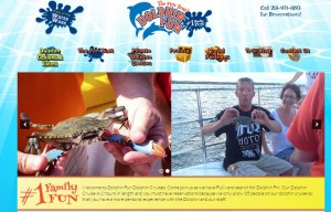 Pink Fish Marketing, Dolphin Cruises, Orange Beach AL, Website Design