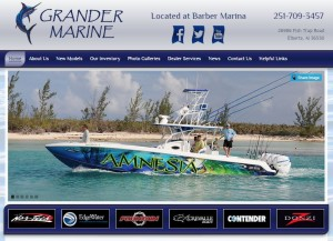 Pink Fish Marketing, Website Design, Boat Dealers, Nor -Tech, Fountain